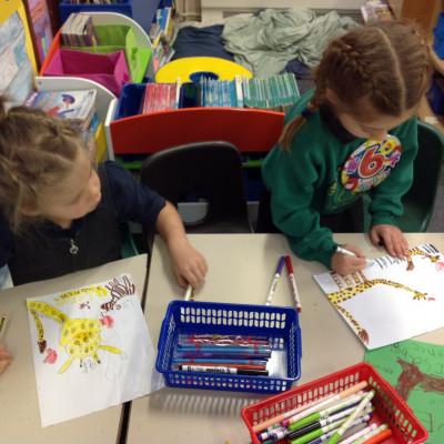 Children enjoying Catherine Rayner's workshop