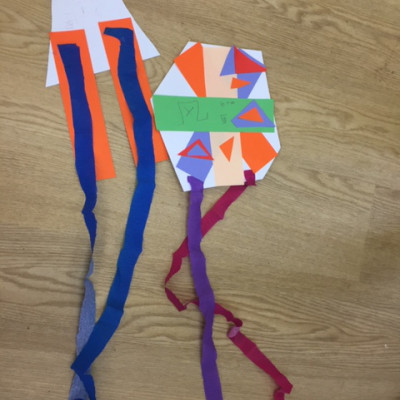 Kites from Clare and Yue's workshops