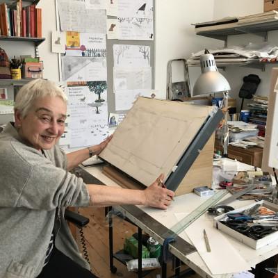 Jessica in her studio