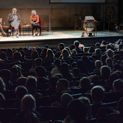 Nicolette Jones in conversation with John Burningham and Judith Kerr at the Old Vic in 2017