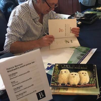 Patrick signed lots of books for children after his performance in Newcastle