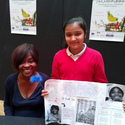 One of the children who came to see Valerie showed her a project she'd created all about her life
