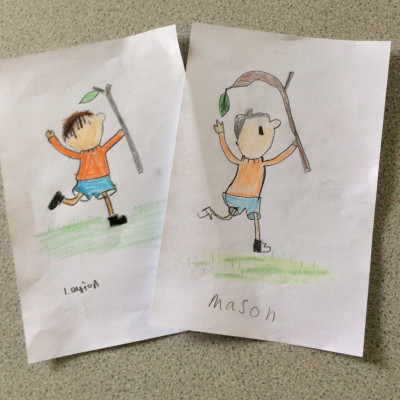Inspired by Neal Layton, Seahorse Class at Necton Primary sent us these pictures of Stanley from *Stanley's Stick*