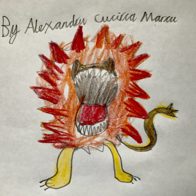 Inspired by Jo Empson, Alexandru, from Toriano Primary sent us this roaring lion.
