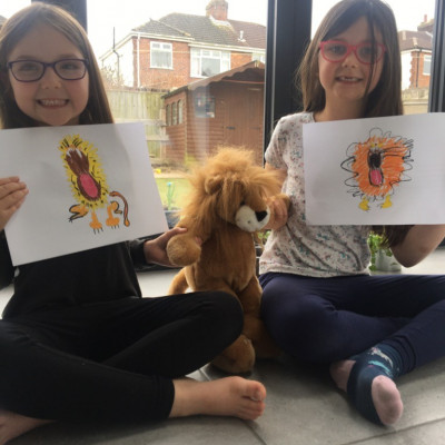Inspired by Jo Empson, Abigail and Eleanor from Greasby Infants sent us their lion pictures!