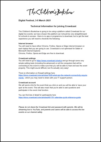 Download technical information
