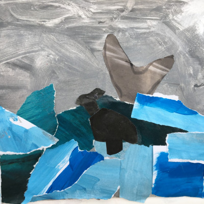 Stormy collage by Asher, age 5