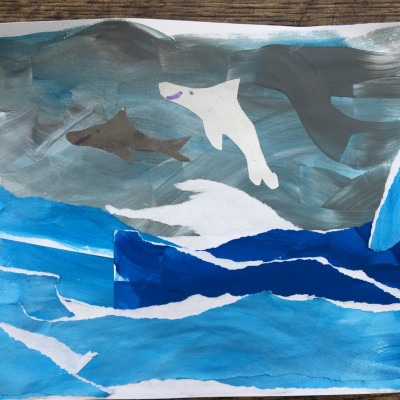 Sofia (age 8) also created this fantastic dolphin picture!