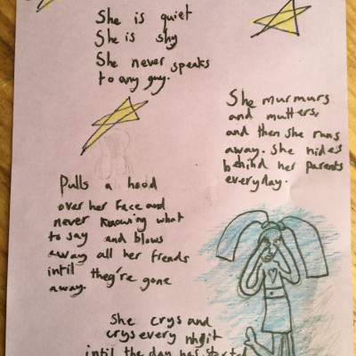 A lovely poignant poem by Sofia