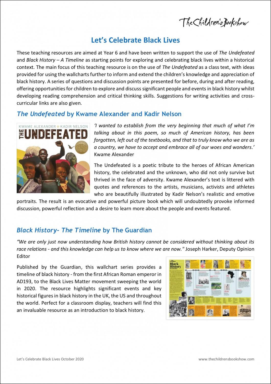Download Let's Celebrate Black Lives resources