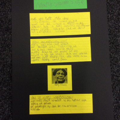 Work inspired by the project from Christopher Hatton Primary