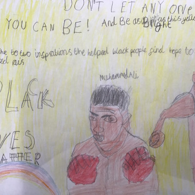 Work inspired by this project from the children at Hawthorn Primary