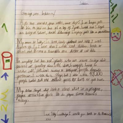 Teddy's letter