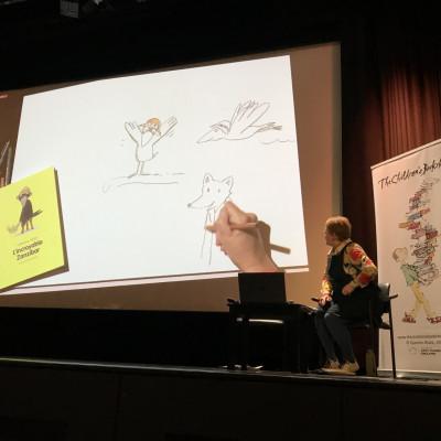 Catharina draws the fennec fox