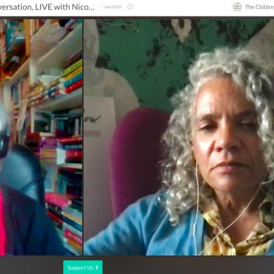 Catherine talks to Nicolette Jones online for World Book Day 2021