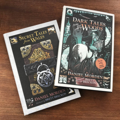 Daniel Morden's books: *Secret Tales from Wales* and *Dark Tales from the Woods*