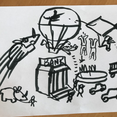 the bank robbery scene