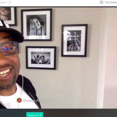 Kwame Alexander at his Digital festival performance to celebrate World Book Day
