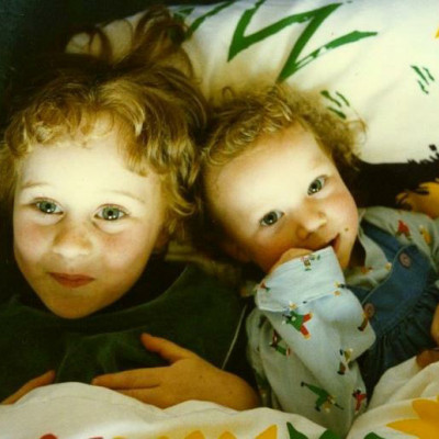 Lauren and her sister Natalia when they were small