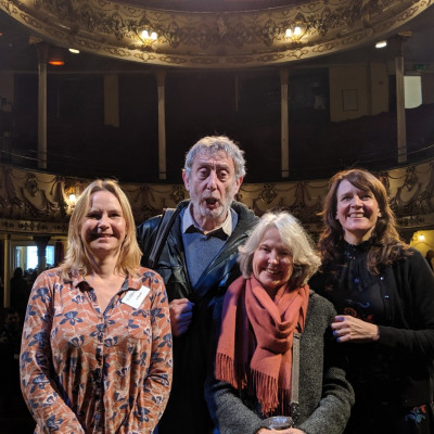 The Children's Bookshow team with Michael Rosen at the beautiful Theatre Royal in Margate