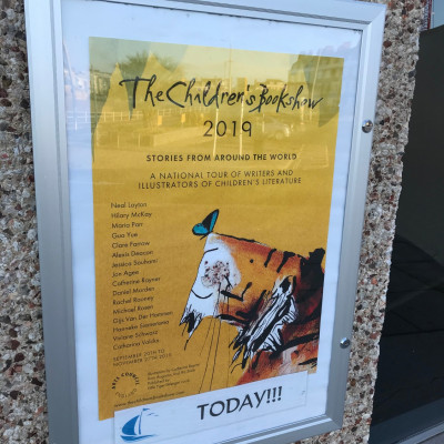 Our lovely poster at the Weymouth Pavilion