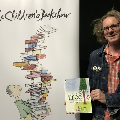 Neal Layton with his book *The Tree*