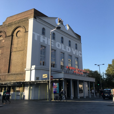 The Old Vic on the morning of the event