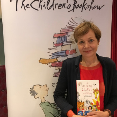 Rachel Rooney with her latest book *A Kid In My Class*