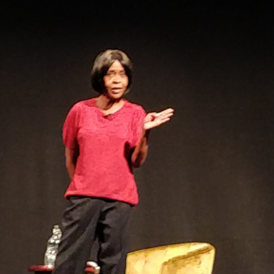 Valerie on stage at the Bristol Hippodrome