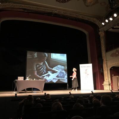 Viv on stage in Bristol