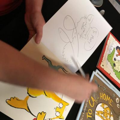 Viv signed books after her performance