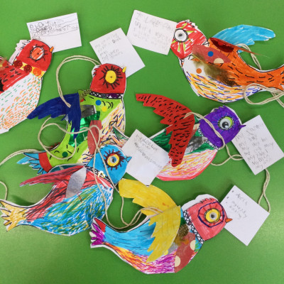 Inspired by Jo Empson, Year 2 Skylarks Class at Lower Heath Primary made their own little birds