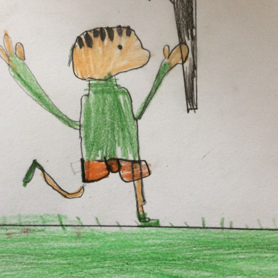 Inspired by Neal Layton, Seahorse Class at Necton Primary sent us this picture of Stanley from *Stanley's Stick*