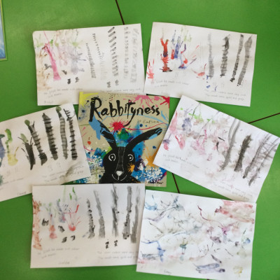 Inspired by Jo Empson's book *Rabbityness*, Year 2 Skylarks Class at Lower Heath Primary sent us these paintings