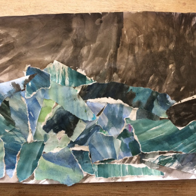 Stormy collage by Leila, age 9
