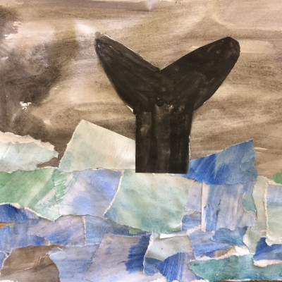 Stormy collage by Saffi, age 11