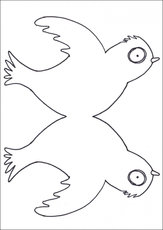 Download little bird cut out template