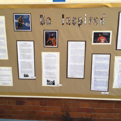 Some of the black history work that the children of Fishergate primary have been creating